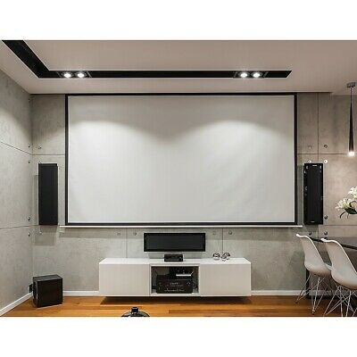 AU124.95 • Buy 100 Inch 16:9 Manual Pull Down Outdoor Projector Projection Screen Theater Movie