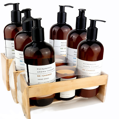 £22.99 • Buy Pecksniffs Aromatherapy Hand Wash + Hand Lotion + Candle Sets With Tray De-tox