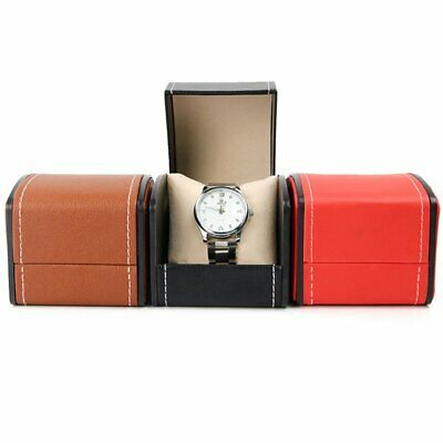£6.49 • Buy New Faux Leather PU Watch Storage Box Display Case Single Grid Removable Cushion