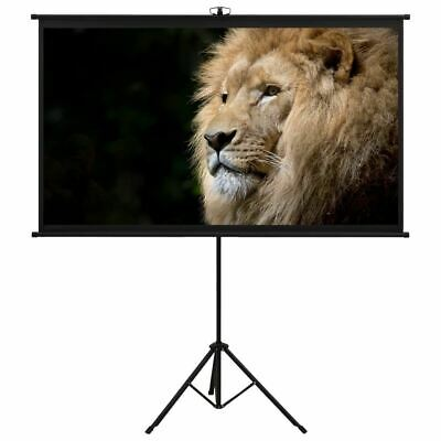 AU84.95 • Buy Screen Projector With Tripod Home Cinema Conference Presentation Projection 16:9
