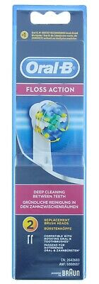 AU13.22 • Buy Braun Oral B Floss Action Toothbrush Replacement Refill Heads 1 Or 2 Heads