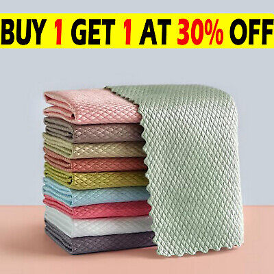 £12.99 • Buy Pack Of 15 NanoScale Streak-Free Miracle Cleaning Cloths (Reusable) Kitchen Rags