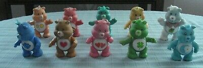 £51.92 • Buy Lot Of 10 1980s Vintage CARE BEARS Poseable PVC Figures By Kenner / AGC (3in)