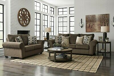 $950 • Buy Ashley Furniture Nesso Sofa And Loveseat Living Room Set
