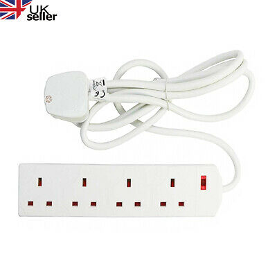 £8.99 • Buy Extension Lead Cable Electric UK Mains 1 2 3 4 6 Gang Way Plug Power Socket