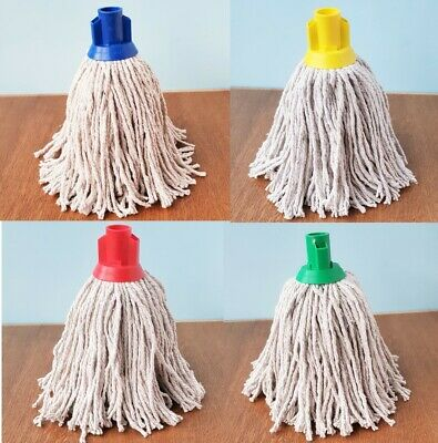 £4.20 • Buy Cotton Mop Head Universal Socket Type Colour Coded Heavy Duty Floor Cleaning Mop