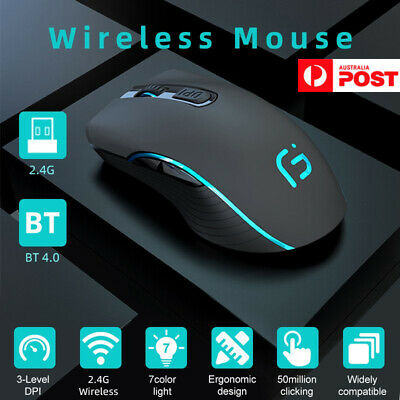 AU23.91 • Buy Wireless Bluetooth Mouse Rechargeable Dual Mode Silent Ergonomic For PC Laptop