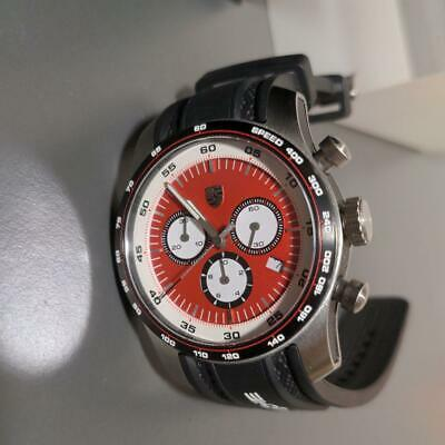 £331.59 • Buy Porsche Men's Watch SWISS MADE Red Dial Black Band Authentic