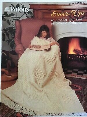 £8.50 • Buy Vintage Patons Cover-Ups. Crochet & Knitting Patterns Blankets. Throws DK. New