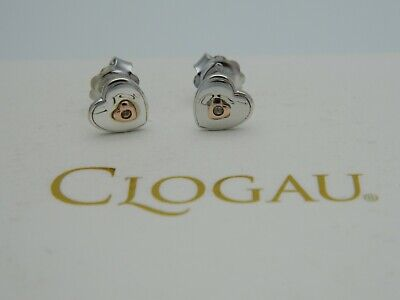£45 • Buy Clogau Sterling Silver & 9ct Rose Gold Heart Stud Earrings RRP £79.00
