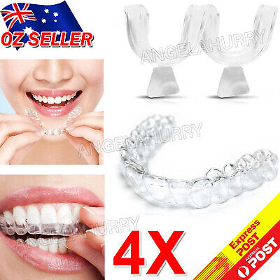 AU8.45 • Buy 4x Teeth Whitening Mouth Trays Custom Self Mould Thermo Plastic Clear Guards NEW