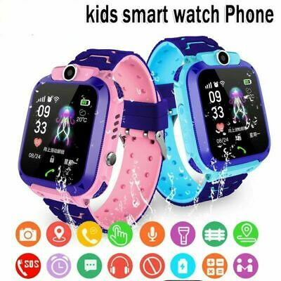 AU20.99 • Buy New Waterproof Tracker GPS Smart Kids Watch With Camera SOS Call For IOS Android