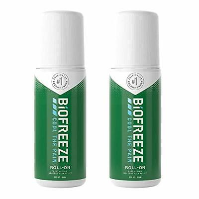 £19.14 • Buy Biofreeze Pain Relieving Roll-On, 89ml, 2 Pack Bundle, Cooling Topical Analgesic