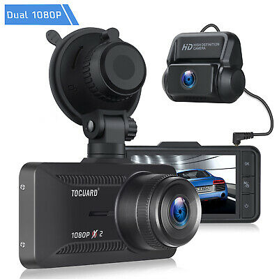 AU86.95 • Buy TOGUARD 1080P Dash Cam Dual Lens Front And Rear Car GPS Video Recorder Camera