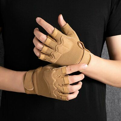 AU18.56 • Buy Outdoor Sports Fingerless Gloves Half Finger Military Army Tactical Gloves
