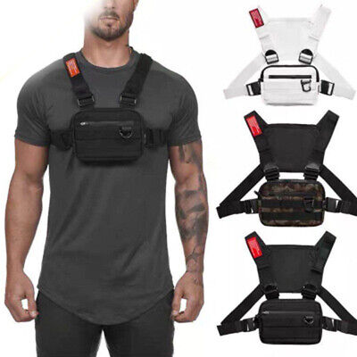 AU27.99 • Buy Oxford Cloth Chest Rig Bag Functional Tactical Harness Chest Waist Pack AU HOT
