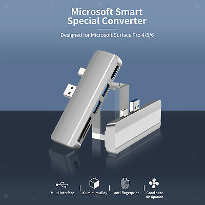 AU24.90 • Buy USB HUB 3.0 Docking Station Splitter For Surface Pro 4/5/6 Accessories