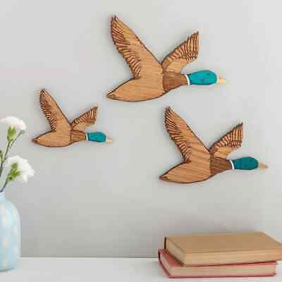 £50 • Buy 1950s Flying Ducks, Wall Hanging Wooden Duck Decor In 3 Sizes, Unique Hunting