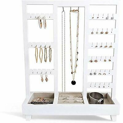 £38.99 • Buy Jewelry Display Stand Extra Tall Tabletop Necklace Holder With Ring Tray