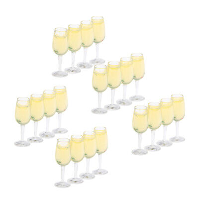 £6.94 • Buy Lots 20 1:12 Scale Mini Cup Wine Glasses Kit Dolls House Table Ornament