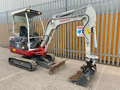 £17995 • Buy Takeuchi TB219 Mini Digger / Excavator 2T 2017 LOW HOURS With Quick Hitch