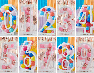 £17.99 • Buy Balloon Mosaic Frame 0-9 Age Number Balloon Stand Display Birthday Party Decor