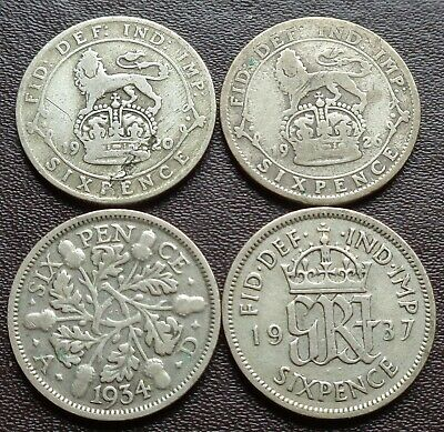 £2.99 • Buy 1920 To 1946 George V-george Vi Silver Sixpence- Choose Your Year