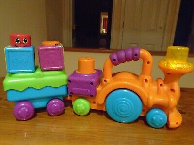 £7.50 • Buy  TRAIN SET STACK & ROLL LIGHT UP CHOO CHOO With 2 POP UP Blocks Fisher Price