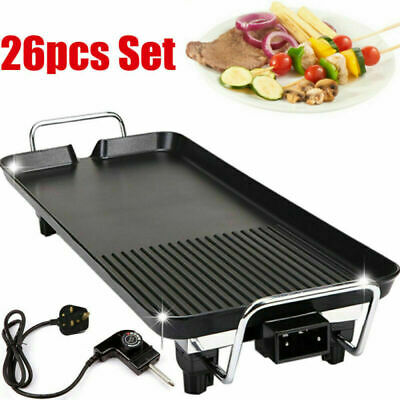 £39.59 • Buy 26pcs Smokeless Grill Indoor BBQ Barbecue Non Stick Machine Electric Table Top