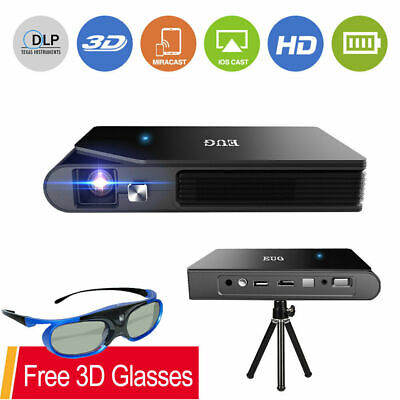 £317.11 • Buy 3600lm Full HD Mini DLP 3D Projector WiFi Airplay For IPhone Free 3D Glasses UK