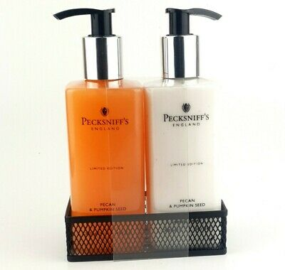 £14.50 • Buy Pecksniffs Pecan & Pumpkin Seed Hand Wash + Hand Lotion With Tray