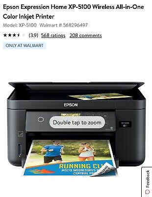 View Details New Epson Expression Home XP-5100 Wireless All-in-One Color Inkjet Printer • 125$