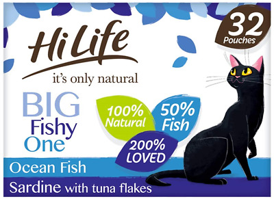£27.85 • Buy HiLife It's Only Natural - Complete Wet Cat Food - The Big Fishy One In Jelly -