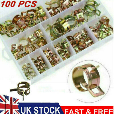 £10.59 • Buy Spring Hose Clips/Clamps Mikalor Fuel Air Gas Water Pipe Self Clamping 100Pcs GB