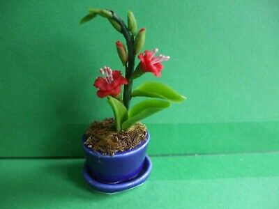 £2.50 • Buy Dolls House Miniatures:1.12Scale Choice Of 2 Plants In Ceramic Pots & Pot Dishes