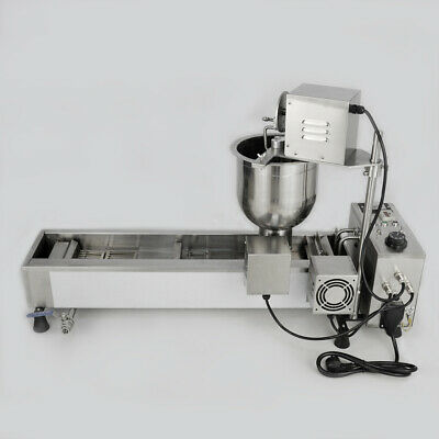 £760.35 • Buy Donut Maker Making Machine Commercial Wide Oil Tank 220V Automatic 3 Sets Mold