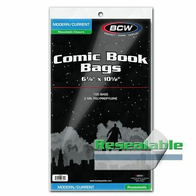£9.23 • Buy 100 BCW Current / Modern RESEALABLE Comic Bags Sleeves Protectors