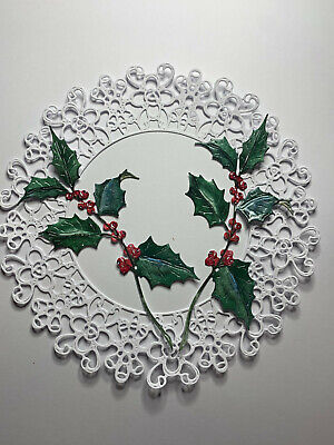£2.90 • Buy Tattered Lace X4 Christmas Holly Die Cuts Professionally Printed