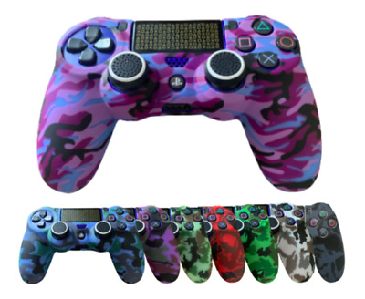 £3.99 • Buy PS4 Graffiti Playstation 4 Silicone Rubber Skin Camo Protective Controller Grip