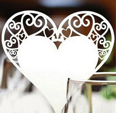 £1.49 • Buy Ivory Laser Cut Place Setting - Wedding Party Glass Topper Pearlised Name Card
