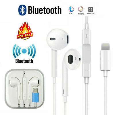 AU10.95 • Buy For Apple IPhone XR Xs X 7 8 11 12 Wired Bluetooth 8pin Earphones Headphones Mic