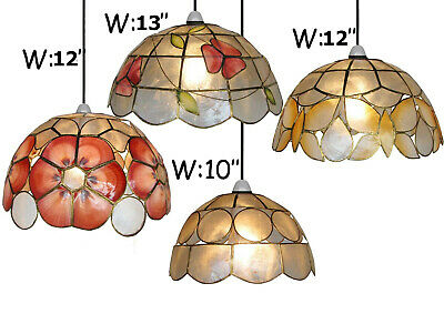 £30.95 • Buy 10'' & 11'' Hand Craft Capiz Shell Cafe Dining Bedroom Lounge Lampshade