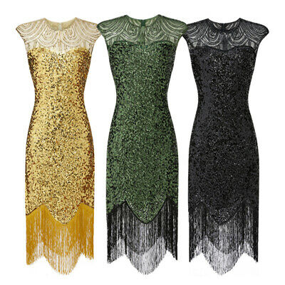 £20.99 • Buy Sparkly Great Gatsby Peaky Blinders Costumes 1920's Evening Sequin Flapper Dress