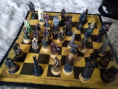 £110 • Buy Lord Of The Rings Chess Set Handpainted Crafted In Lead