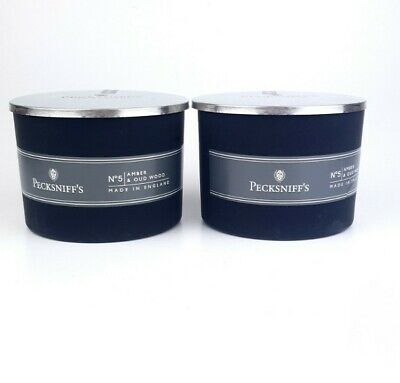 £14.99 • Buy 2x 300g PECKSNIFF'S No5 Candles Amber & Oudwood RRP 50£