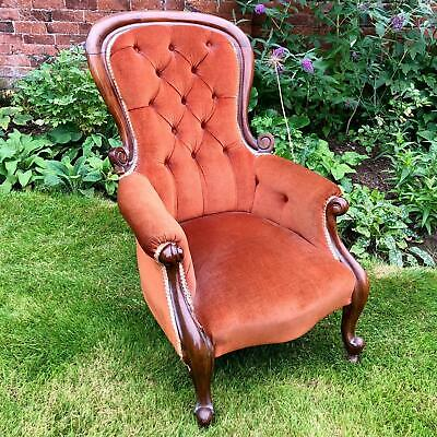 £145 • Buy Antique Victorian High Backed Armchair / Gentleman's Chair Mahogany