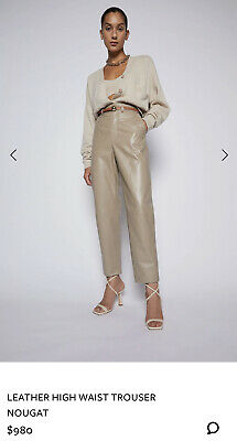 AU680 • Buy 🤎 Scanlan Theodore Leather High Waist Trouser Size 6 RRP$980