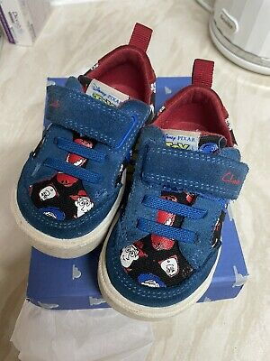 £8.95 • Buy Clarks Toy Story City Howdy Blue Boys Shoes Pumps Canvas 4G With Box