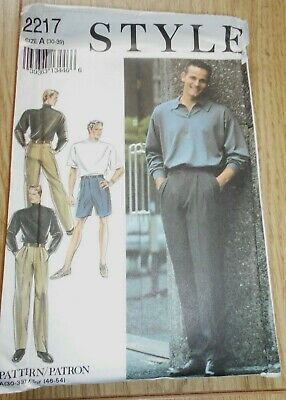 £7.99 • Buy Mens Trousers And Shorts Style Sewing Pattern.