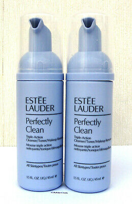 £19.50 • Buy Estee Lauder Perfectly Clean Triple Action Cleanser/Toner/Make Up Remover 2x50ml
